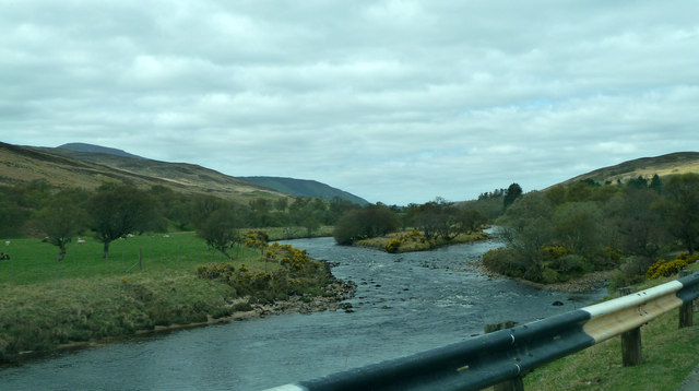 River Helmsdale and island