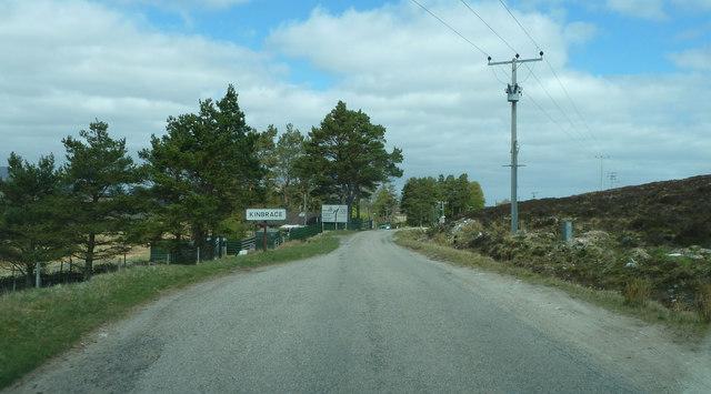 A897 entering Kinbrace