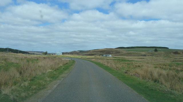 A897 approaching Forsinain