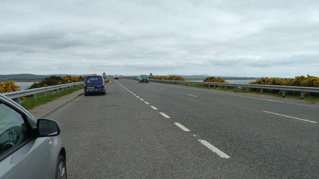 A9 approaching Dornoch Firth Bridge
