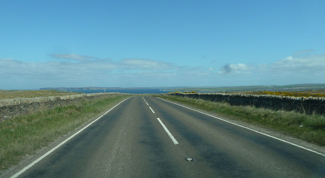 A836 heading for Thurso