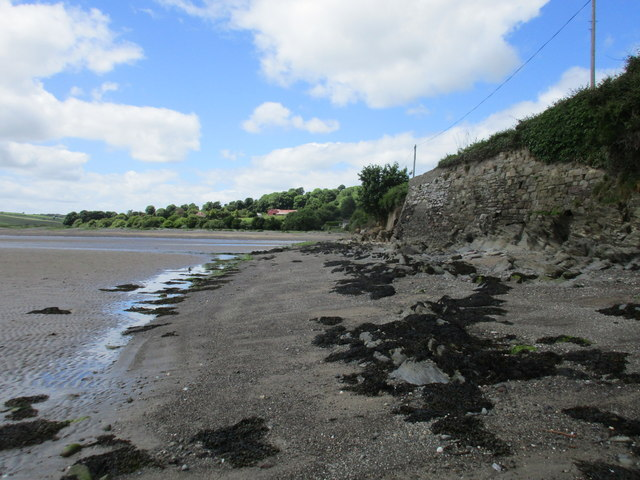 The northern shore of the estuary at Ringabella