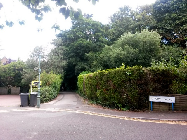 Westbourne: footpath A01 from Warren Road