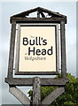 SD6831 : Sign for the Bull's Head public house, Wilpshire by JThomas