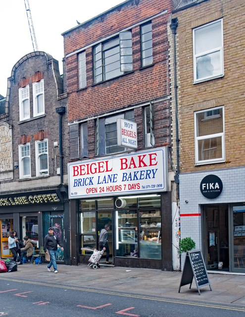 """Brick Lane: """"Beigel Bake"""", Brick Lane © Julian Osley Cc-by-sa/2.0"""