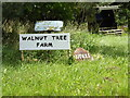 TM0480 : Walnut Tree Farm & Nutiles signs by Adrian Cable