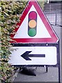 SK4246 : Temporary Traffic Lights Sign by Gary