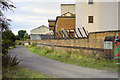 SJ4913 : Lane behind Ditherington Mill site, 1990 by Robin Webster