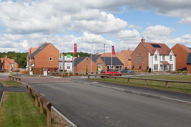 Linden Homes sales area, Crowdhill Green housing development