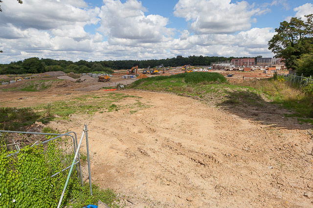 Phase 3 building site of Crowdhill Green housing development
