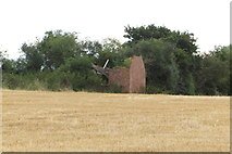 SP6830 : Derelict farm building on the field edge by Philip Jeffrey