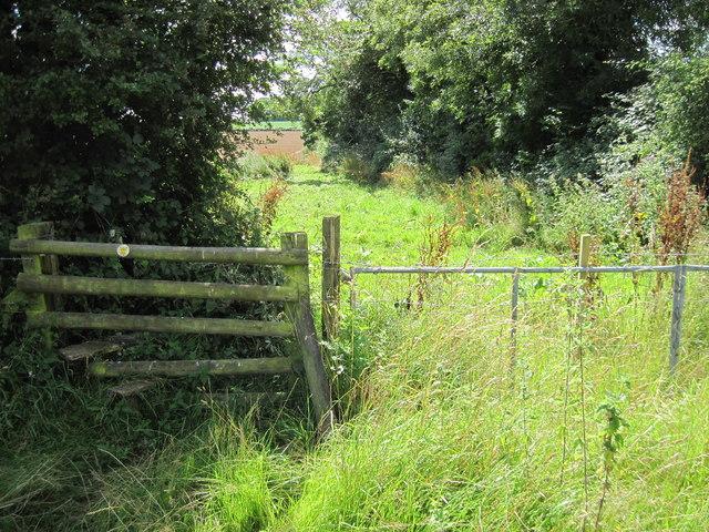 Stile and footpath near Court Farm