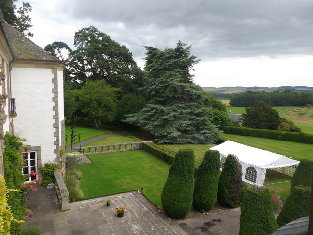 Terrace and lawns Hill of Tarvit Mansion
