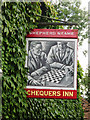 TQ5758 : Chequers Inn sign by Oast House Archive