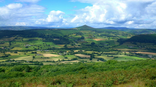 View west from Ysgyryd Fawr/Skirrid