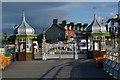 SH5873 : Bangor Pier entrance gates by David Martin