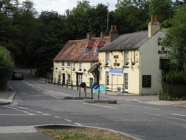 'Rose & Crown' public house on Clay Hill