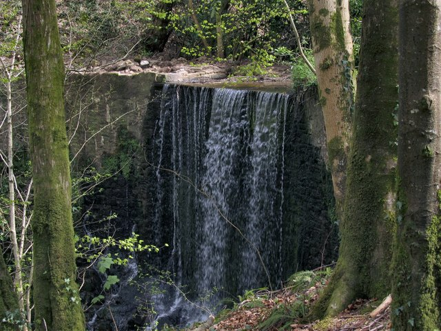 Top of Waterfall on the river Gwynon
