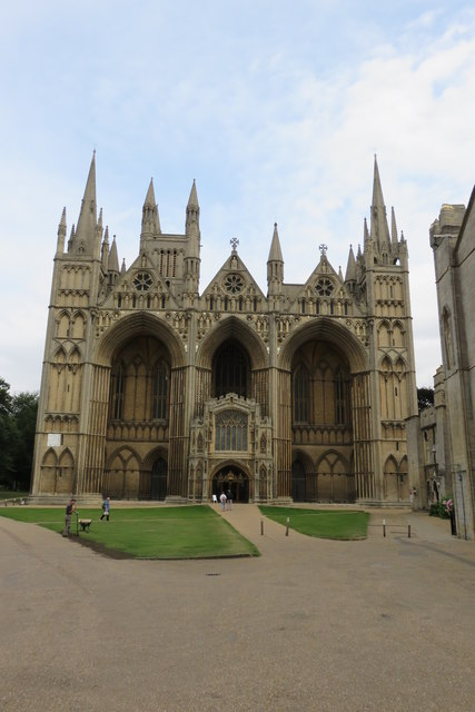Peterborough cathedral frontage