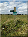 TM0075 : Green Lane Bridleway sign on Wattisfield Road by Adrian Cable