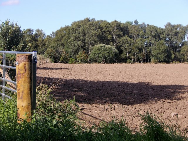 Gated access to a ploughed field