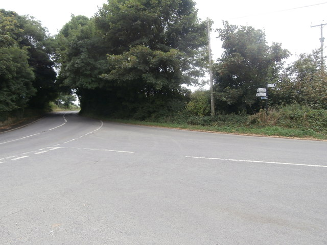 Road junction, St Donat's