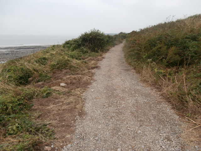 Recently resurfaced path, near Cwm Col-huw