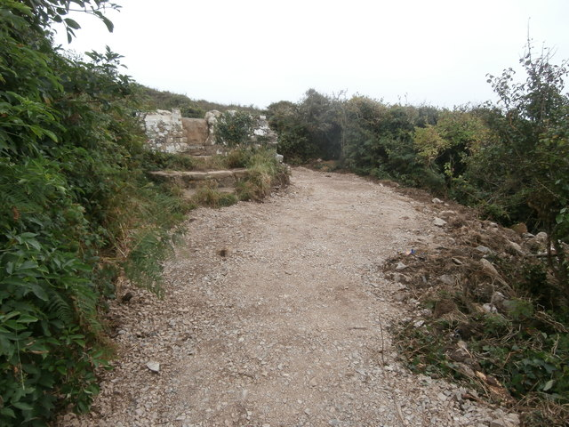The path now bypasses the stone stile