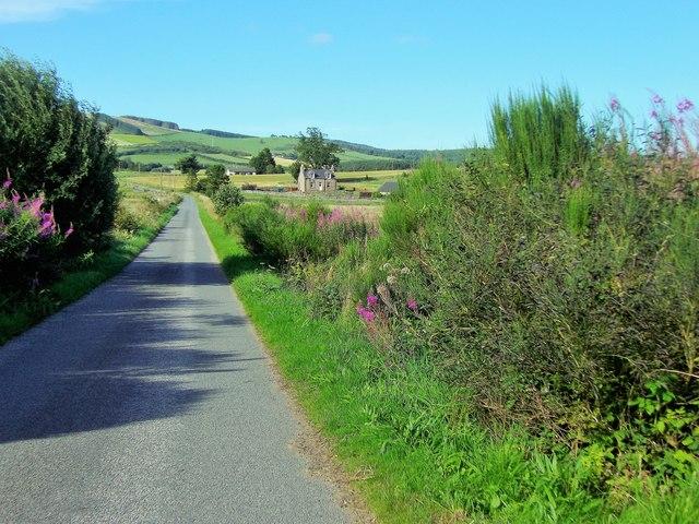 Minor road towards Mill Farm