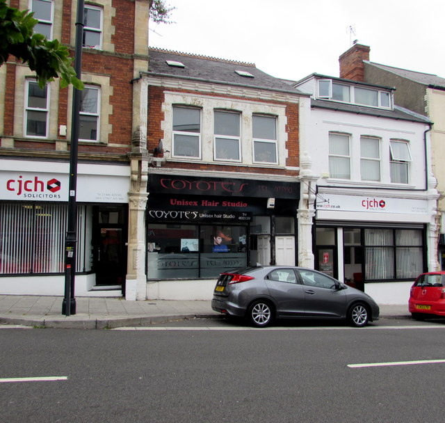 Coyote's unisex hair salon, Barry u00a9 Jaggery Geograph Britain and Ireland