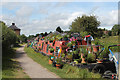 SP5465 : Plant shop narrowboat by Oast House Archive