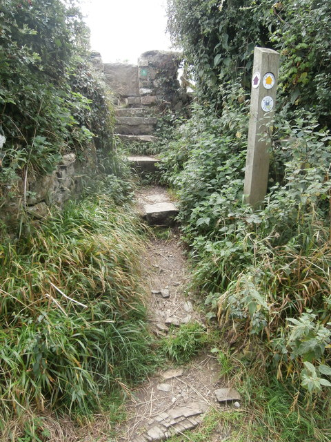 Stile in Church Lane, giving access to footpath to Cwm Col-huw, Llantwit, Major