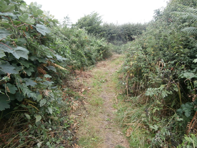 Dog-leg in Church Lane (which is a mere footpath), Llantwit Major