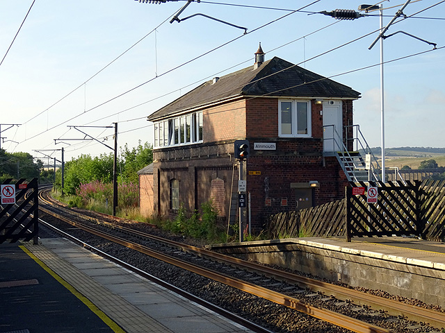 Signal Box, Alnmouth Station