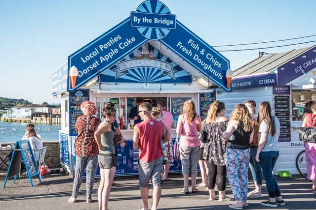 West Bay: August Queues For Fish And Chips