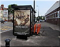 ST1167 : Ben-Hur advert on a Broad Street bus shelter, Barry by Jaggery