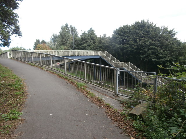 Footbridge over New Cut Rd, Swansea