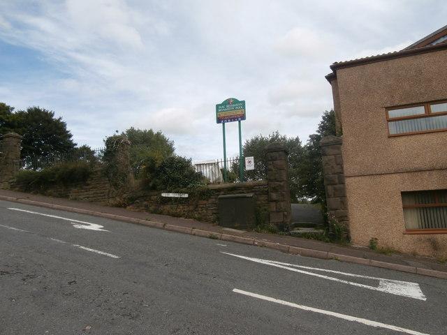Entrance to Brynmelyn Park, Swansea