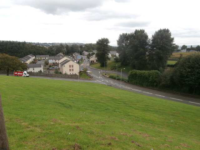 Llangyfelach Rd at its junction with Ysgubor Fach St, Swansea