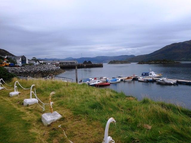 View of Kyle of Lochalsh Harbour from Lochalsh Hotel