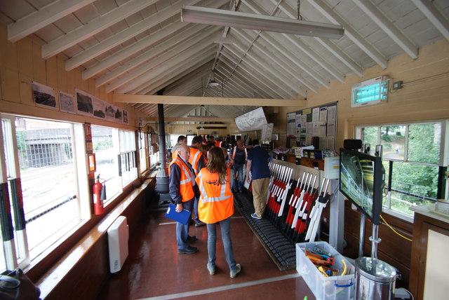 Interior of Banbury North Signal Box (2)