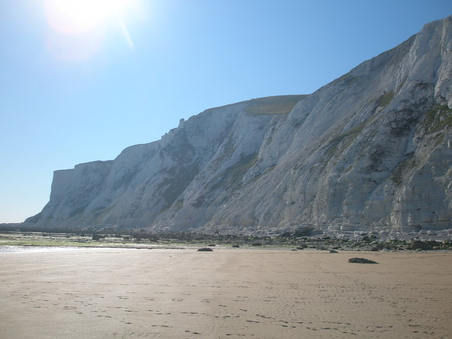 View from Falling Sands to the  Beachy Head cliffs