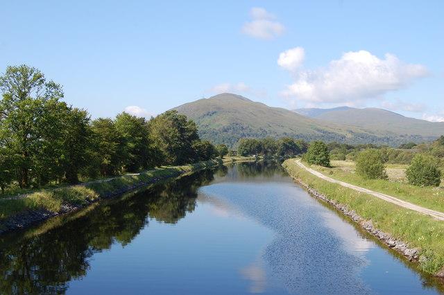 Caledonian Canal approaching Corpach