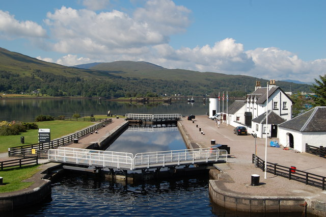 The last lock on the Caledonian Canal at Corpach