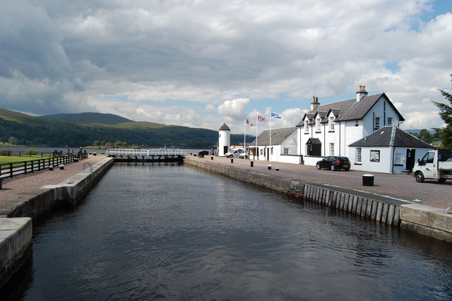 Last lock on the Caledonian Canal