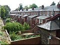 SK9771 : The back gardens of Union Street next to Lincoln Castle by Richard Humphrey