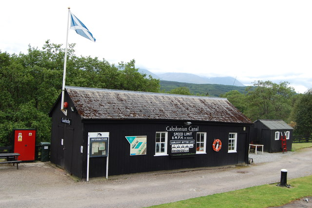 Gairlochy Lock office Caledonian canal