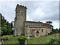 SP9554 : Carlton church by Robin Webster