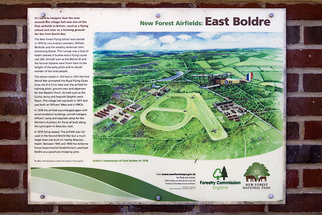 East Boldre airfield - interpretation panel