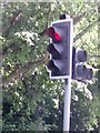 SK5343 : UK Red  Toucan Crossing Traffic Light Signal by Gary